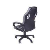 Cadeira Gamer Giratória Or Design Preta e Cinza