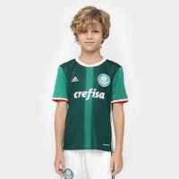 Camisa Adidas Palmeiras 2016 Infantil Verde e Branco  e29d00eb20845