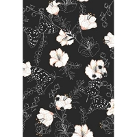 Butterfly Journal: Black and White Floral Design Notebook To Write In Lined Small