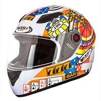 Capacete Mixs Helmets Fokker Casino Branco