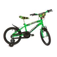 Bicicleta Infantil Rharu Tech Aro 16 Verde e Preta