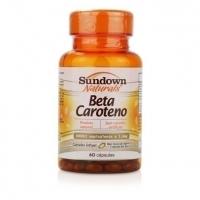 Suplemento Sundown Naturals Beta Caroteno 6000 UI 60 Cápsulas