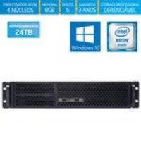 Servidor-storage Silix X1200r V6 Intel Xeon E3 V6 3.0 Ghz / 8gb / 24tb / Raid / Win 10 Pro Oem