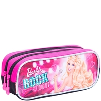 Estojo Duplo Sestini Barbie Rock n Royals Rosa