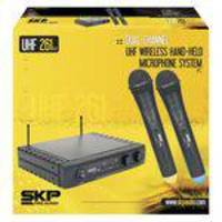 Microfone Profissional Sem Fio Duplo Skp Uhf 261