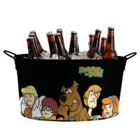 Balde De Gelo Oval Turma Do Scooby Doo Metal Preto 45x24cm