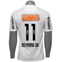 Camisa Nike Santos I 2012 n. 11 Neymar Jr Branco  a38fb68d5facc