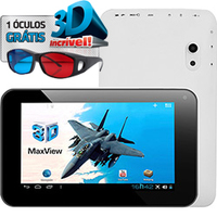 Tablet DL 3D Max View Wi-Fi 3G Android 4.0 8GB Pink
