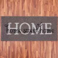 Capacho para Porta de Entrada Havan Vinil Long Home Sweet 0.30x0.70cm
