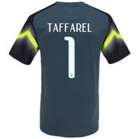 Camisa Goleiro Nike Brasil Seleção 2014 Craques Eternos do Taffarel Número  1 Cinza Escuro f5cb9c7b0db4d