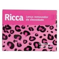 Lenço Removedor De Oleosidade Ricca 50 Unidades