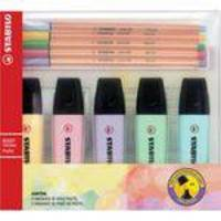Caneta Marca Texto Stabilo 5 Boss Pastel 5 Point Sertic Kit