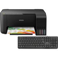 Impressora Multifuncional Epson EcoTank L3150 + Teclado Ziva com Fio USB Trust
