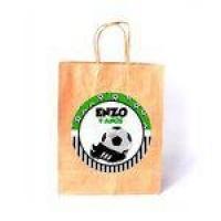 Kit 100 Sacola De Papel Branca Personalizada Futebol
