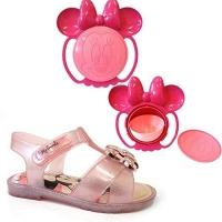 SANDALIA MINNIE MAGIC BOWL BABY 21843 - GRENDENE - ROSA GLITTER/ROSA