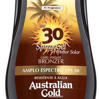 Protetor Solar Corporal Australian Gold FPS 30 Instant Bronzer Spray Gel 237ml