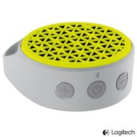 Caixa de Som Portátil Logitech Mobile X50 3W Bluetooth Branca e Amarela