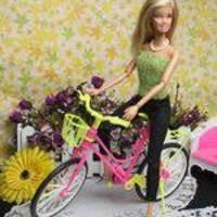 Miúdo Crianças Brinquedo Jogar Casa De Plástico Da Bicicleta Da Bicicleta Para Acessórios Da Boneca Barbie