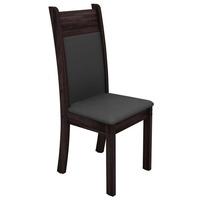 Kit de Cadeiras Madesa Nebraska Cinza 2 Peças