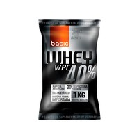 Suplemento Basic Nutrition Whey WPC Protein 40% Baunilha 1kg