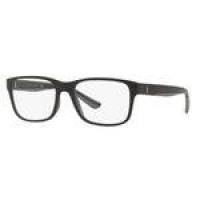 Armação Oculos Grau Polo Ralph Lauren Ph2195 5284 55 Preto Fosco