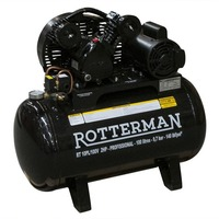 Compressor De Ar De Baixa Pressão 10 Pés 100 Litros Monofásico RTV10/100 Rotterman