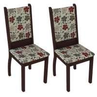 Conjunto 2 Cadeiras 4238x Madesa Tabaco hibiscos