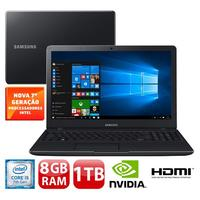 Notebook Samsung Expert X23 NP300E5M XD1BR Core I5 7200U  2.5GHz 8GB 1TB Windows 10