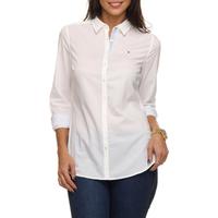 487ec396e9 Camisa Social Tommy Hilfiger Ulani Shirt Feminina Branca