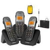 Telefone Fixo Sem Fio 2 Ramais Ts 5123 Com Bina Entrada Chip