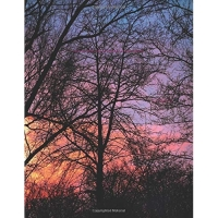 Sunset Sky Clouds Dusk Evening Trees Silhouette Notebook