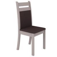 Kit com 2 Cadeiras Madesa Diana Mirya Bege e Marrom