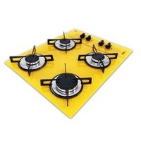 Cooktop D&D Metal Mega Chama 4 Bocas Amarelo