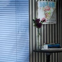 Persiana Horizontal Em Alumínio 25mm Color 1 60larg X 1 60alt Azul
