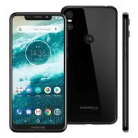 Smartphone Motorola One XT1941 Desbloqueado 64GB Dual Chip Android 8.1 Preto