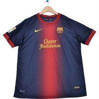9a17b5553e Camisa Nike Home Torcedor Barcelona Infantil Azul e Grená