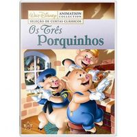 Disney Collection Os Três Porquinhos DVD Filme Infantil