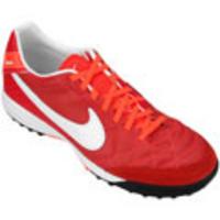 Chuteira Society Nike Tiempo Mystic 4 TF Masculina Vermelha  6be9ea2e702f3
