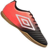 Chuteira Futsal Umbro Fifty III IC - Adulto - Preto/Coral