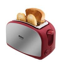 Torradeira Philco French Toast 900W Inox e Vermelha 220V