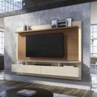 Home Suspenso Hb Móveis Limit 2.2 Tv 60 Pol Off White E Nature