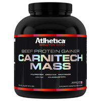 Suplemento Atlhetica Nutrition Beef Protein Gainer Carnitech Mass Morango 3Kg