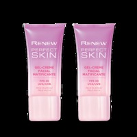 Kit Gel-creme Facial Renew Perfect Skin Matificante 30g