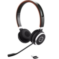 Headset stereo sem fio Bluetooth USB Evolve 65 Duo UC Jabra
