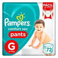 Fralda Pampers Confort Sec Pants Bag G 72 Unidades