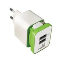 Carregador Parede Easy Mobile Smart USB Branco e Verde