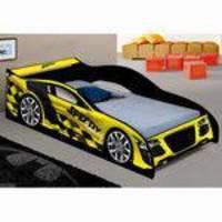 Cama Infantil Carro Speedy Amarelo - JA Móveis