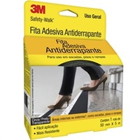 ROLO DE FITA ANTIDERRAPANTE SAFETY-WALK 50MM COM 5M PRETO 604089 3M