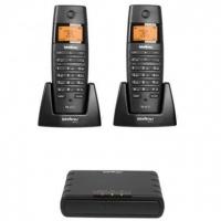 Telefone IP Sem Fio Intelbras TS60IPR Preto + 2 Ramais sem Fio Preto