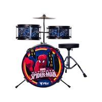 Bateria Infantil Marvel Spider man 8 Peças Phx Preta